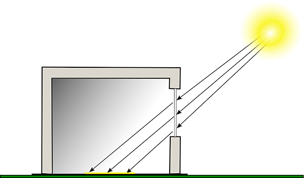 Light redistribution with Standard Vision Glass